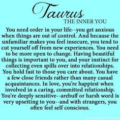 wow so accurate, except for the self-conscious part. I dont think that is true. Astrology Taurus, Zodiac Signs Taurus, Taurus And Gemini, Zodiac Facts, Taurus Lover, Sun In Taurus, Taurus Bull, Astrology Numerology, Taurus Taurus