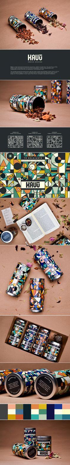 Kauu herbal tea packaging by Marcela Ibarra and Isabel Beltran | Fivestar Branding Agency – Design and Branding Agency & Curated Inspiration Gallery #tea #packaging #branding #packagingdesign #design #behance #pinterest #dribbble #fivestarbranding