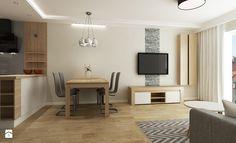 Mieszkanie Kraków - Średni salon z jadalnią z tarasem / balkonem, styl tradycyjny - zdjęcie od All Design Agnieszka Lorenc