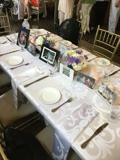 Loved ones who couldn't make our big day were seated by photograph at our head table (deceased grandparents, friends, even a photo of my beloved boxer Lily)