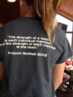 Fairport Softball T shirt