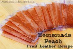 Homemade Fruit Leather Recipe – Peach