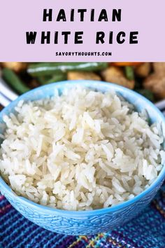 Rice is really easy to over-cook or under cook. But this instant pot white rice recipe is easy and will be perfect every time. Follow our steps to make this delicious white rice. #rice #haitianwhiterice #whiterice #dinner #savorythoughts @Msavorythoughts | savorythoughts.com Quick Dinner Recipes, Supper Recipes, Special Recipes, Side Dish Recipes, Delicious Recipes, Mexican Side Dishes, Vegan Side Dishes, Dinner Dishes, Food Dishes