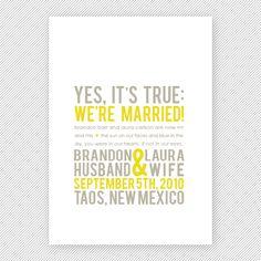 We' Eloped | Got Married Word Cloud Postcard | Elopement ...