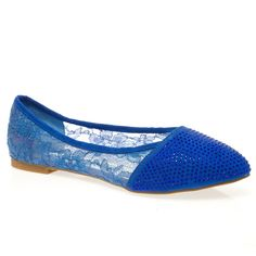V-Luxury Womens 40-TRISS10 Pointy Toe Rhinestones Flat Ballerina Ballet Shoes, Royal Blue Lace, 7.5 B (M) US. Brand: Bella Marie. Comfy Flats. Fitment: True to Size/Slightly Smaller. Material: Synthetic. Listing images were taken off actual product, however, actual color may differ slightly due to different monitor display setting.