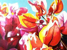 Bougainvillea In the Sunlight (Print) by Sian Hardie