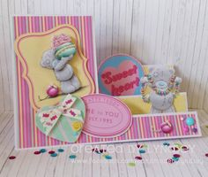 Me to You Sweet Shop - Side Stepper Card by design team member Lyndsey Girl Birthday Cards, Birthday Ideas, Beautiful Birthday Cards, Stepper Cards, Bear Card, Tatty Teddy, Team Member, Candy Shop, 4 Kids