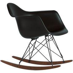 Vitra Eames RAR Schommelstoel Black Collection (Zwart) «  Woonhome.nl