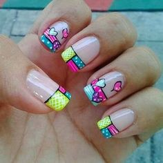 Square Nail Designs, Simple Nail Art Designs, Gel Nail Designs, Cute Nail Designs, Easy Nail Art, Ruby Nails, Coffen Nails, Manicure, S And S Nails