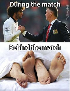 No matter how Fellaini was playing. If he was eligible to play he was in LvG's starting XI