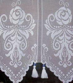 Crochet Curtains Archives - Beautiful Crochet Patterns and Knitting Patterns Crochet Bikini Pattern, Crochet Lace Edging, Crochet Cross, Crochet Art, Crochet Curtains, Lace Curtains, Crochet Table Runner Pattern, Knitting Patterns, Crochet Patterns