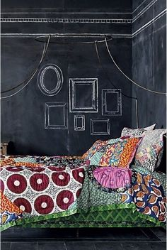 A chalkboard wall in a teen's room would allow them to express themselves and make the room their own, but change it as their tastes change, which can be daily as a teen