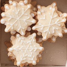 Snowflake Shortbread Recipe | MyRecipes.com
