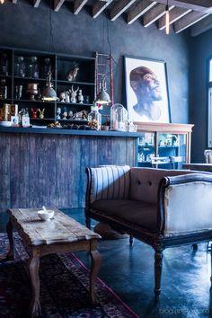 Cheap Home Decoration Stores Diy Interior Doors, Interior Window Shutters, Best Interior Design, Autumn Home, Restaurant Design, Cape Town, Interior Inspiration, Furniture, Blue Cafe