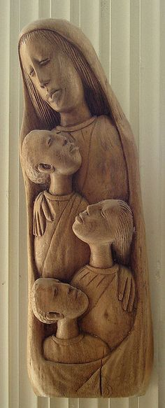 Mother Mary: a Haitian wood carving by jimforest, via Flickr