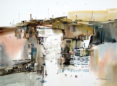 Relationship of the City (watercolor on paper) by Tan Suz Chiang