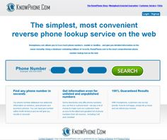 The simplest, most convenient  reverse phone lookup service on the web
