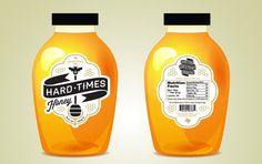 Hard Times Honey branding and packaging