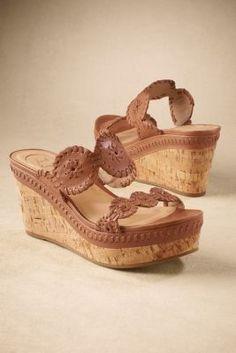 Jack Rogers Leigh Wedge - Jack Rogers Sandal, Resort Wear Sandal, Leather Wedge Sandal | Soft Surroundings