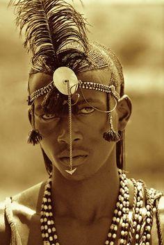 Masai warrior in Africa