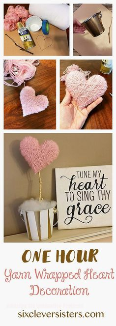 75 Most Profitable Crafts to Sell to Make Money - Crafts to sell - Crafts To Make and Sell – Yarn Wrapped Heart – 75 MORE Easy DIY Ideas for Cheap Things To Sell - Diy Gifts For Him, Diy Crafts For Gifts, Crafts To Make And Sell, Homemade Crafts, Crafts For Teens, Kids Crafts, Sell Diy, Kids Diy, Easy Gifts