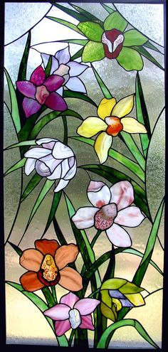 Orchid Window I ~ by Kelley Studios ...would be nice for Robin.....vwr