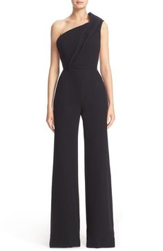 Brandon Maxwell One-Shoulder Wide Leg Jumpsuit available at #Nordstrom