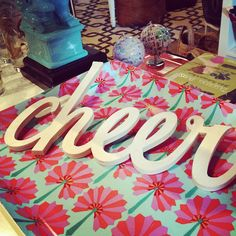 cheer - text on print