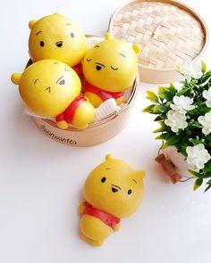 Winnie the Pooh steamed buns by WanwanTea (@wanwantea)