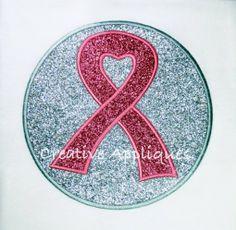 Awareness Ribbon Circle Patch Applique