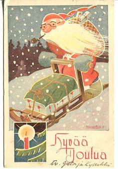 Toivo Fahlenius.  Christmas postcard.