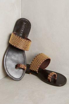 Mystique Studded Toe-Loop Sandals
