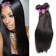 6A no procesados rectas brasileñas paquetes armadura del pelo Yaki ligero 3 pc/lot natural negro brasileño de la virgen del pelo extensionson en venta