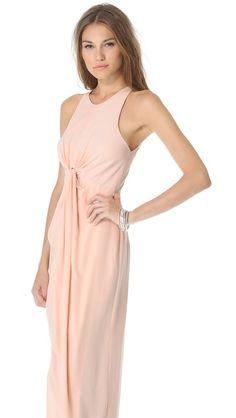 Zimmermann Sleeveless Knot Front Gown