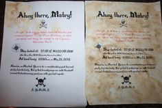 {DIY Authentic Pirate Paper} This is a party invitation, but the process could be used for a pirate map as well. Very cool! #CampSunnyPatch