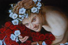 RED ROSES, Oil on Canvas by Sara Calcagno, Italian Contemporary Painter. www.saracalcagno.it #roses #redroses #love #saracalcagno #italianpainter #painter #art #italianart
