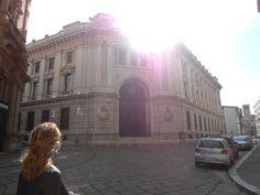 Walking to Piazza Affari. Milan. Italy.