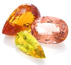#Gemstones by Color: Morganite, Zircon, Heliodor. More @ www.multicolour.com and #gemstones