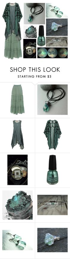 """Ocean Storm"" by maggiehemlock ❤ liked on Polyvore featuring Miss Selfridge, H&M and China Glaze"