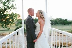 Texas Wedding Couple from rusticweddingchic.com