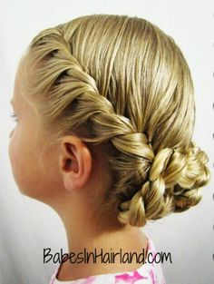 Hairstyle Gallery -- Babes in Hairland Communion Hairstyles, Dance Hairstyles, Flower Girl Hairstyles, Little Girl Hairstyles, Twist Hairstyles, Wedding Hairstyles, Trendy Hairstyles, Hairstyles 2016, Flower Girl Updo