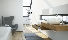 2012 New Modern Interior Design Inspirations Modern White Bathroom with Lookout – Home Design Ideas