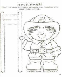 Preschool Writing, Preschool Printables, Educational Activities, Preschool Activities, School Welcome Bulletin Boards, People Who Help Us, Community Helpers Preschool, Community Workers, Fire Safety