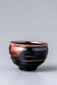 "Yoshinori Hagiwara, Sake cup, black glaze, stoneware, 2 x 2.5 x 2.5"""
