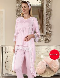 Şahinler Maternity Nightwear, Maternity Dresses, Night Suit, Night Gown, Pink Outfits, Dress Outfits, Mix Match Outfits, Beach Dresses, Lace Bralette