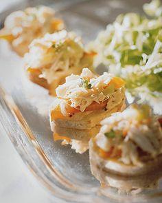 Martha Stewart's Crab Salad Canapes