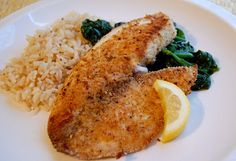 Oven Baked Panko crusted Talapia