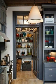 Kitchen Designs with Corner Pantry . Kitchen Designs with Corner Pantry . An Italian Style Ikea Kitchen for A Hostess with the Most Modern Kitchen Design, Interior Design Kitchen, Modern Interior, Interior Ideas, Modern Design, Pantry Interior, Rustic Design, Cosy Interior, Interior Office