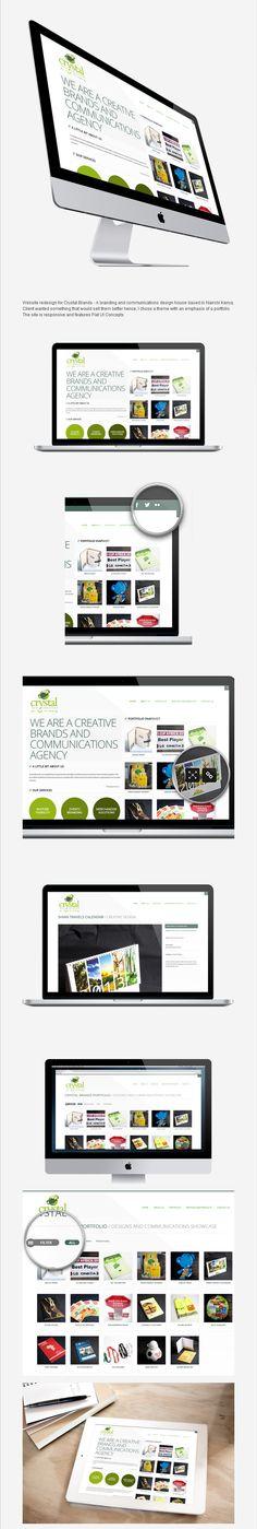 Crystal Brands website redesign. visit source to see full presentation - #website #design #flatUI #responsive