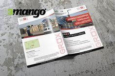 Katalógus készítés, borító grafikai tervezés. A4 méretű, 4+4 színben szerkesztett 8+4 oldal terjedelmű írkatűzött kiadvány. i